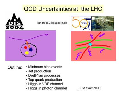 QCD Uncertainties at the LHC Outline: Minimum bias events Jet production Drell-Yan processes Top quark production Higgs in VBF.