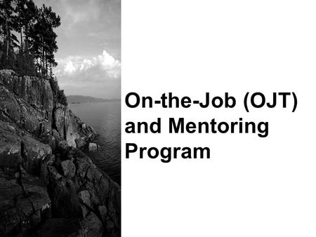 On-the-Job (OJT) and Mentoring Program. 2 Performance Objectives Explain the difference between Phase I, Pre-Service Training Academy, and Phase II, OJT.