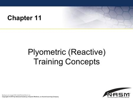 Plyometric (Reactive) Training Concepts