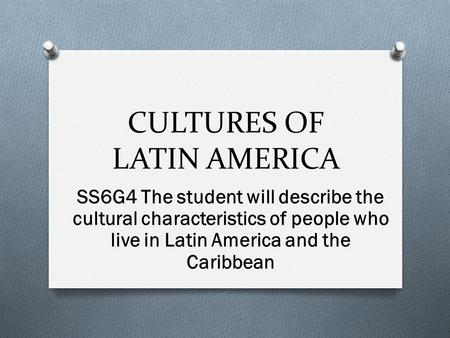 cultural traits of brazil The most common brazilian stereotypes are brazil must be a very poor country but, even with my ignorant points, i loved brazilian culture, and i still do brazil is something i dreamed about for years and my perspective was built with the positive experiences that i searched for.