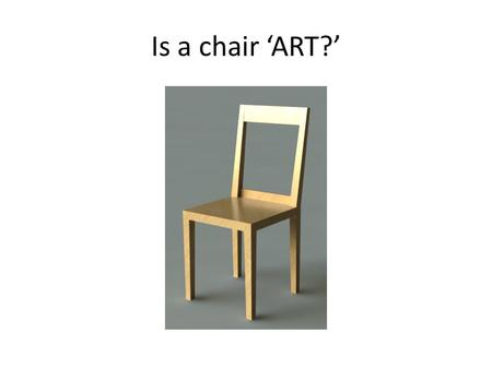 Is a chair 'ART?'. Fabian Brunsing park bench Would you pay to sit here?