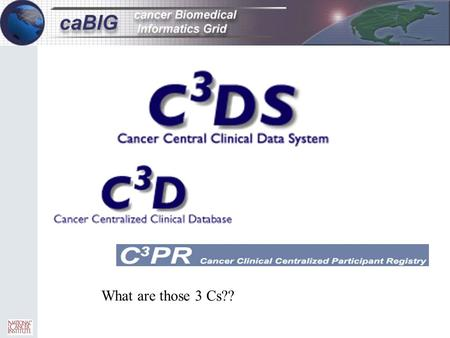 What are those 3 Cs??. C3D Status (as of 2/24/05 12:12 pm)  5 Centers – NCI Center for Cancer Research – National Naval Medical Center – University of.