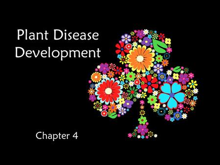 Plant Disease Development Chapter 4. Objectives Clarify the factors for successful disease development Identify s tages in disease development Be familiar.