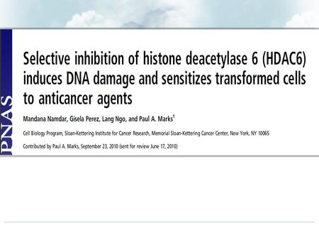 HDAC6 : HDAC6 is a cytoplasmic enzyme that regulates many important biological processes. : HDAC6 has recently emerged as a tubulin deacetylase that has.