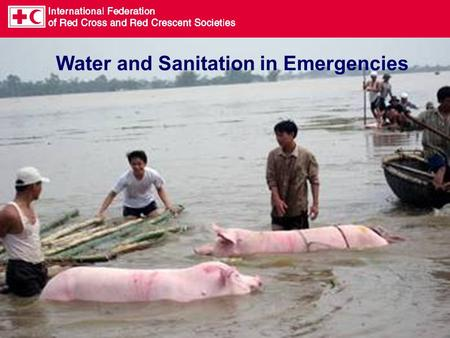 Water and Sanitation in Emergencies. Why focus on water and sanitation? Preventative Health.