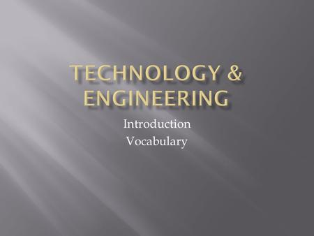 Technology & Engineering