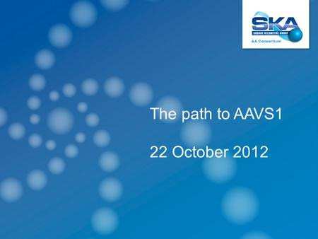 System designAA Consortium - BolognaOctober 2012 AA Consortium The path to AAVS1 22 October 2012.