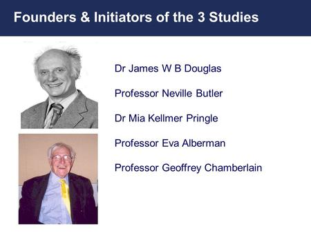 Founders & Initiators of the 3 Studies