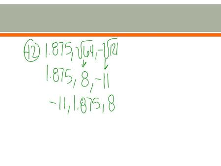  I can identify and use the properties of real numbers.