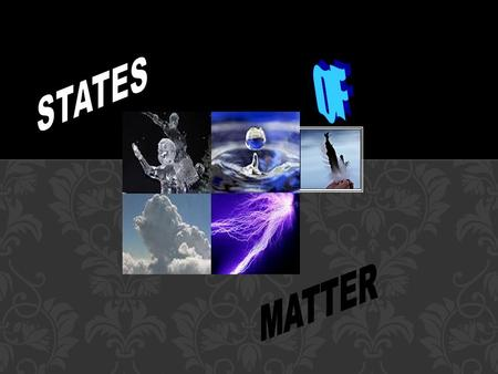 The Four States of Matter Four States Solid Liquid Gas Plasma STATES OF MATTER.