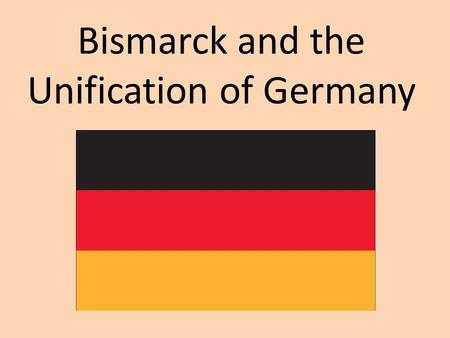 Bismarck and the Unification of Germany. Similarities between the states would play a part in unification LanguageCulture Trade (Zollverein) Geography.