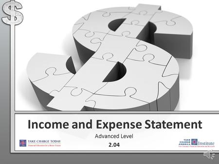 Income and Expense Statement Advanced Level 2.04.
