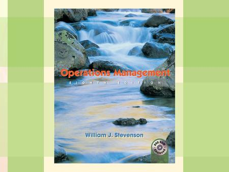 1-1Introduction to Operations Management William J. Stevenson Operations Management 8 th edition.