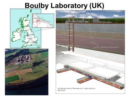 Boulby Laboratory (UK) Middlesborough Whitby Staithes York.