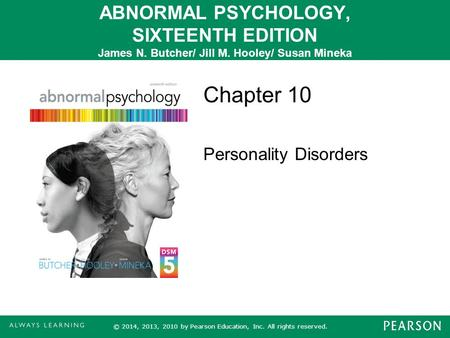 Chapter 10 Personality Disorders