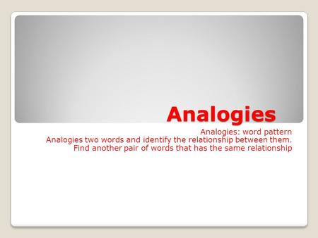 analogy word and pair
