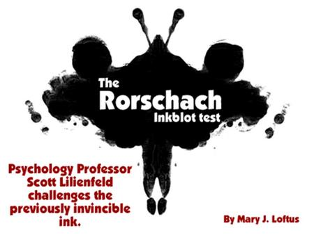 Rorschach - the Ink Blot Principles of Design – Focal Point.