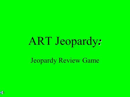 : ART Jeopardy: Jeopardy Review Game. $2 $5 $10 $20 $1 $2 $5 $10 $20 $1 $2 $5 $10 $20 $1 $2 $5 $10 $20 $1 $2 $5 $10 $20 $1 Color Art Movements And styles.