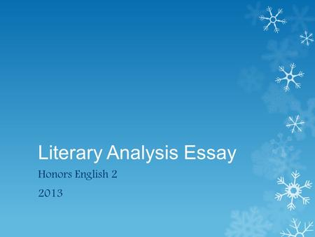 literary analysis essay to build a fire