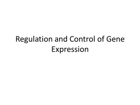 Regulation and Control of Gene Expression. 15.1 Gene Expression in Eukaryotic Cells  Gene controls govern the kinds and amounts of substances in a cell.