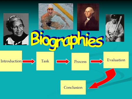 Introduction Task Process Evaluation Conclusion. Introduction A Biography is ….. A true story about someone's life A true story about someone's life Tells.