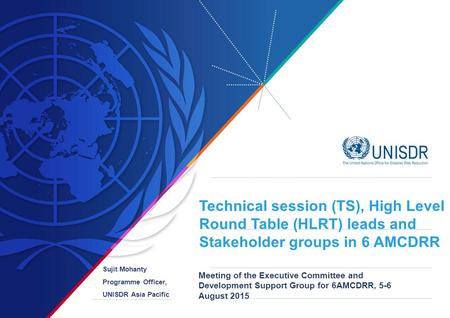 Technical session (TS), High Level Round Table (HLRT) leads and Stakeholder groups in 6 AMCDRR Meeting of the Executive Committee and Development Support.