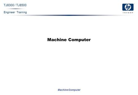 Engineer Training Machine Computer TJ8300 / TJ8500 Machine Computer.