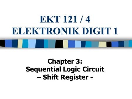 Sequential Logic Circuit