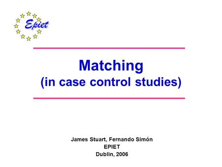 "matching in case-control studies ppt The case control (case- referent) design is really an efficient sampling technique for measuring exposure-disease associations in a cohort that is being followed up or ""study base"" all case-control studies are done within."