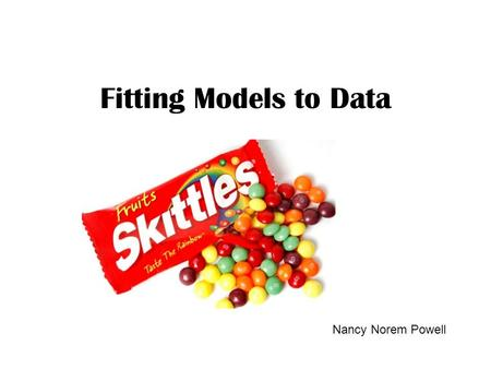 Fitting Models to Data Nancy Norem Powell. Math Modeling A basic premise of science is that much of the physical world can be described mathematically.