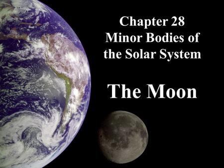 Chapter 28 Minor Bodies of the Solar System The Moon.