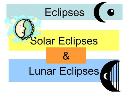 Eclipses Solar Eclipses Lunar Eclipses &. Eclipse – the shadowing of one object (planet) upon another.