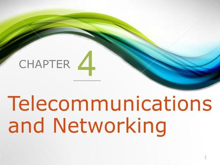 CHAPTER 4 Telecommunications and Networking 1. 1.What Is a Computer Network? 2.Network Fundamentals 3.The Internet and the World Wide Web 4.Network Applications.