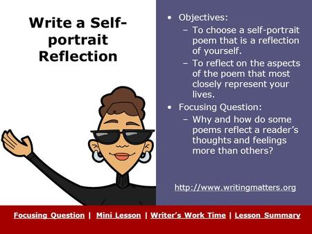 how to write a self reflection How to write a reflection how do i write a reflection on something i did wrong but not want to it gives you clear, self-explained examples that will.