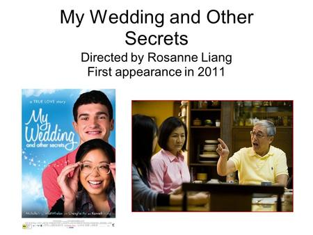 My Wedding and Other Secrets Directed by Rosanne Liang First appearance in 2011.