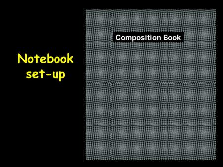 Notebook set-up Composition Book. Table of contentsPage 1 Nuclear Processes.