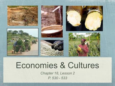 Economies & Cultures Chapter 18, Lesson 2 P. 530 - 533.