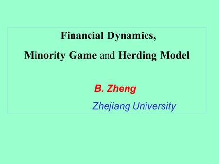 Minority Game and Herding Model