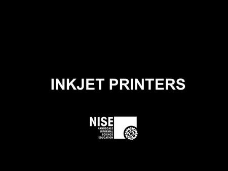 INKJET PRINTERS. Inkjet printers use tiny dots of ink Our eyes and brain mix the dots together.