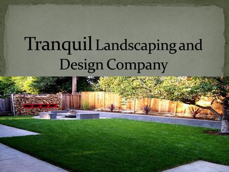 Our company will do the design and installation We specialize in lawn care, sprinklers, paving stones, flowers, trees and retaining walls.
