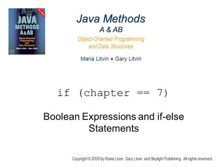 object oriented programming and java statement This book will explain the object oriented approach to programming and through the use java 3: object-oriented programming software selection statements.