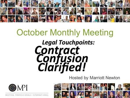 October Monthly Meeting Hosted by Marriott Newton.