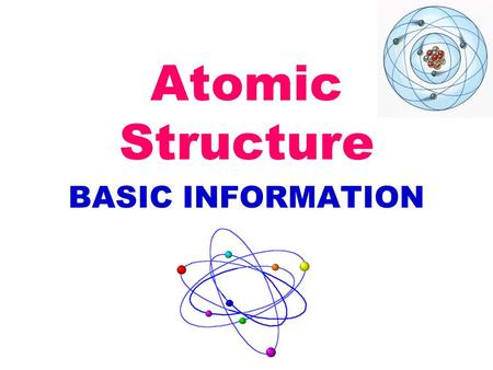 Atomic Structure BASIC INFORMATION. atoms are made up of: protons (+ charge) neutrons (no charge) electrons (- charge) atomic number = # protons Lithium's.
