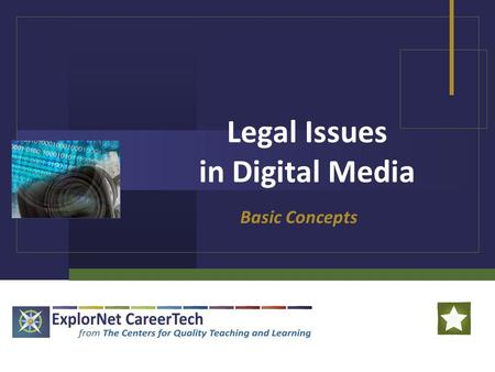 Legal Issues in Digital Media Basic Concepts. Legal Issues in Digital Media Ethics: Values relating to human conduct, with respect to the rightness and.