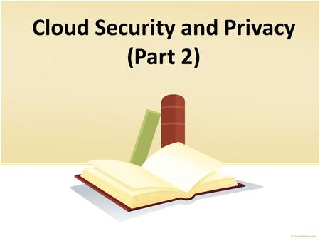 security and privacy issues in cloud computing pdf