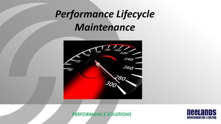 Performance Lifecycle Maintenance