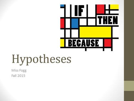 how to write a hypothesis and prediction