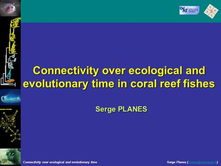 Connectivity over ecological and evolutionary time in coral reef fishes Serge PLANES Connectivity over ecological and evolutionary time Serge Planes