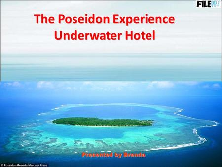The Poseidon Experience Underwater Hotel Presented by Brenda.
