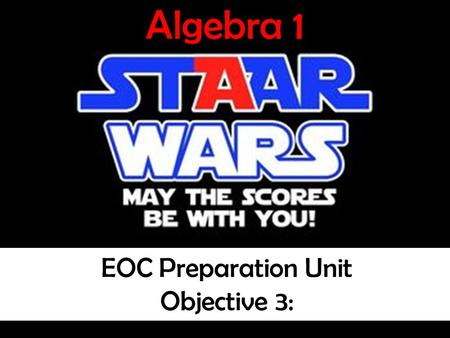 © A Very Good Teacher 2007 Algebra 1 EOC Preparation Unit Objective 2 Algebra 1 EOC Preparation Unit Objective 2 Student Copy Independent and Dependent.